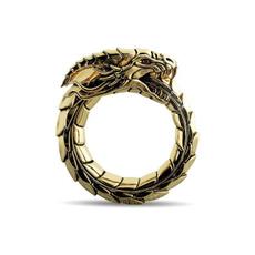 hip hop jewelry, dragonringsformen, gold, 18k gold ring