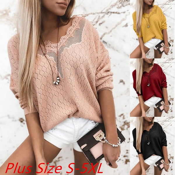 blouse, Plus Size, Shirt, pullover sweater