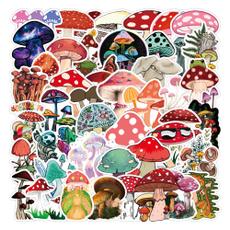 Car Sticker, Laptop, suitcasesticker, Mushroom