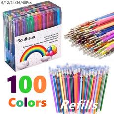pencil, School, caneta, highlighter