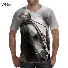 Mens T Shirt, horse, summer t-shirts, roundnecktshirt