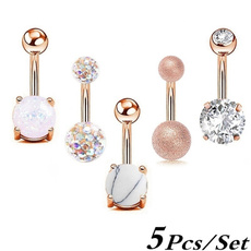 Steel, navel rings, Jewelry, gold