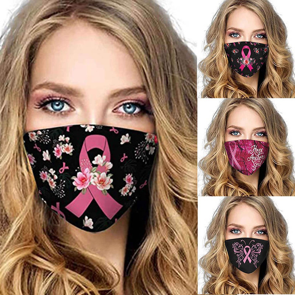 pink, halffacemask, pinkribbon, breastcancermask