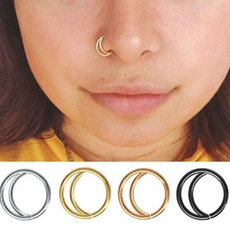 indiannosering, titanium steel, goldnosering, septumring