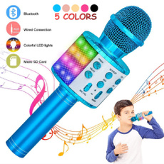 bluetoothmicrophone, Microphone, led, portable