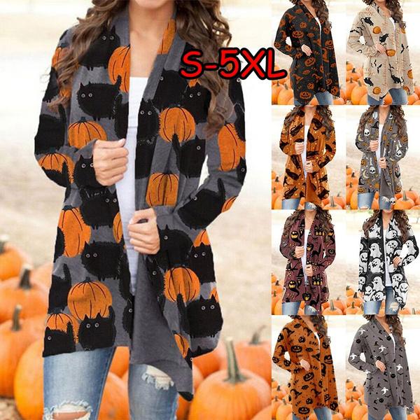 Plus Size, cardigan for women, Long Sleeve, Halloween Costume