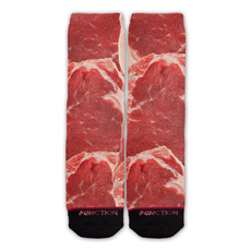 Funny, Cotton Socks, Meat, Colorful