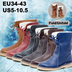 casual shoes for women, Leather Boots, Winter, Womens Shoes