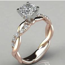 Sterling, DIAMOND, 925 sterling silver, Rose