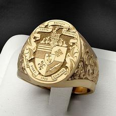 yellow gold, men_rings, 18k gold, Jewelry