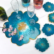 coastermold, siliconeflowercoaster, Flowers, epoxyresinmold