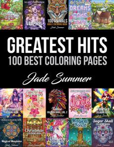 Summer, jade, coloringbookforgrownup, relievestres