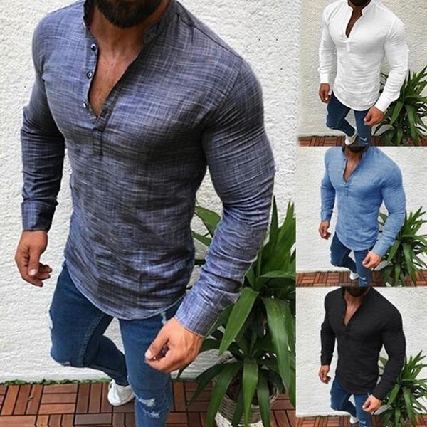 Summer, slim, Shirt, Sleeve