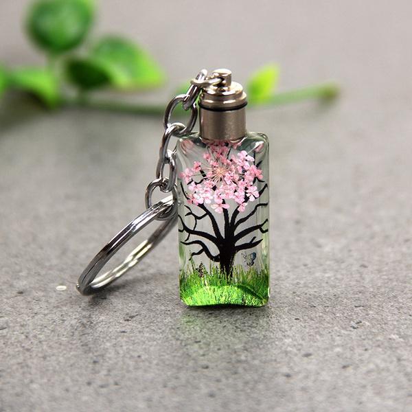 crystalkeychain, Flowers, Key Chain, Jewelry