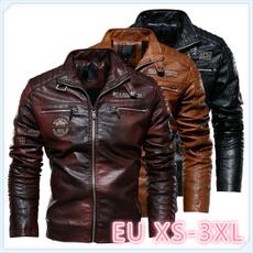 motorcyclecoat, leatherjacketformen, bikerjacket, Fashion