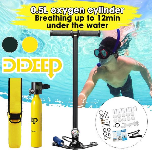 Mini, oxygencylinder, divingbox, divingbeginner