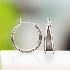 weddingengagement, anqutiesilver, Hoop Earring, Jewelry