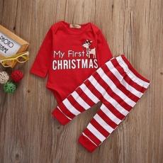 Boy, Baby Girl, Christmas, pants