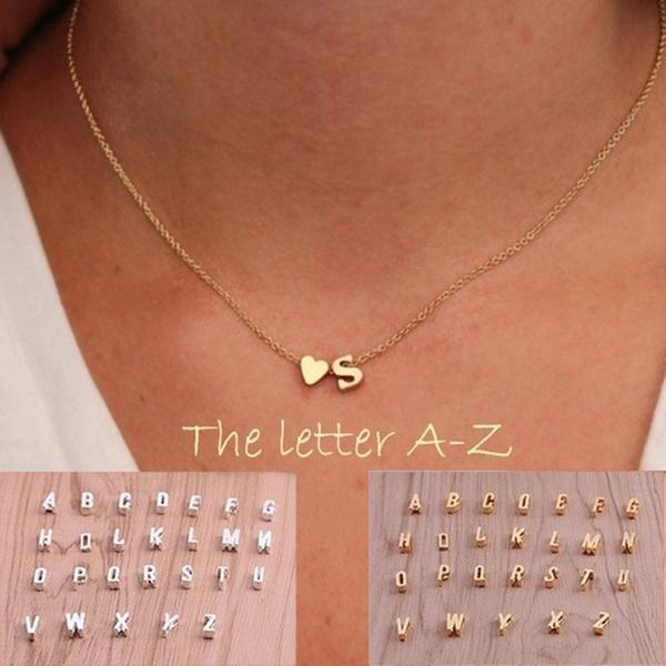 lettersnecklace, Fashion, Choker, christmaspresent