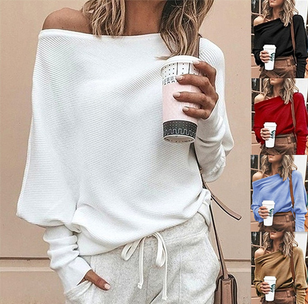 off shoulder top, Fashion, Sleeve, pullover sweater