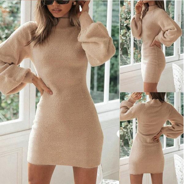 roupas femininas, Collar, Plus Size, sweater dress