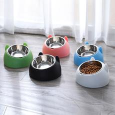 Steel, cute, foodbowl, Pets