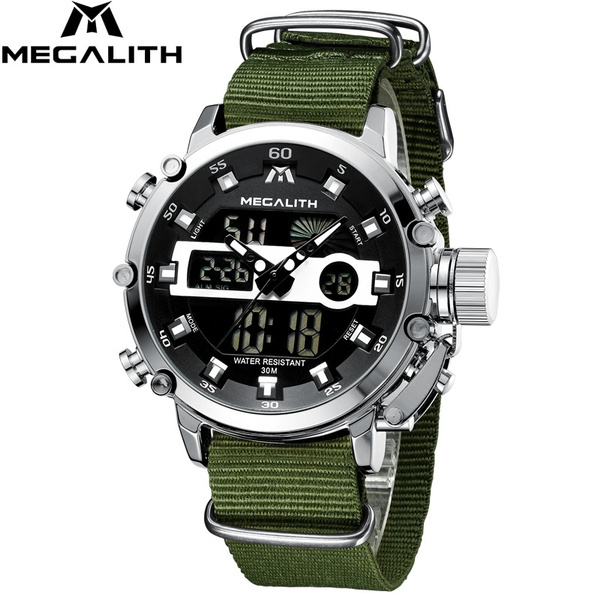 Chronograph, analogdigitalwatch, led, Waterproof Watch