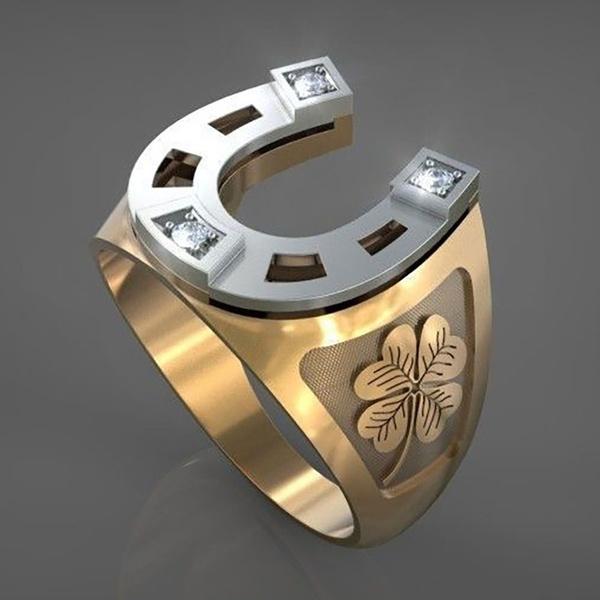 Sterling, Clover, DIAMOND, wedding ring