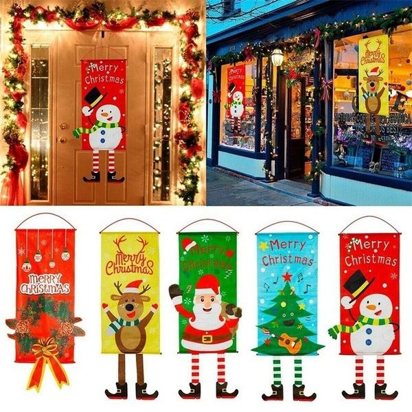 Decor, Door, Christmas, Masks