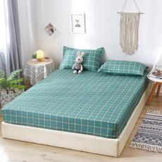 plaid, Elastic, Bedding, Cover