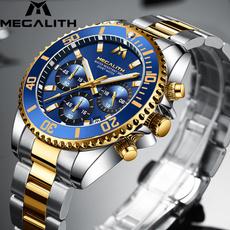 Chronograph, metalstrapwatch, Fashion, luminousclock