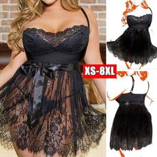 sexy sleepwear dress, Underwear, Plus Size, Lace