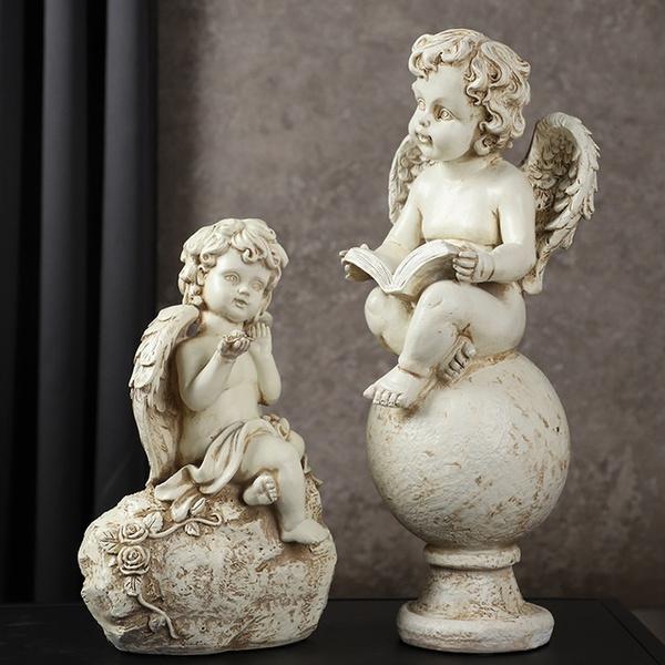 Home & Kitchen, angelresinsculpture, Home Decor, Angel