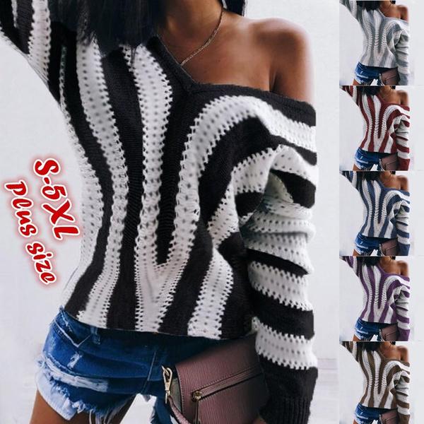 Plus Size, Necks, Sleeve, pullover sweater
