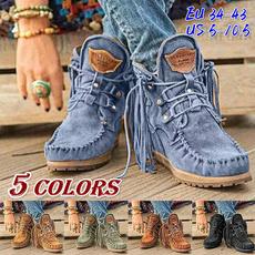 winterbootsforwomen, ankle boots, Tassels, Moda