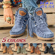 winterbootsforwomen, ankle boots, Tassels, Fashion