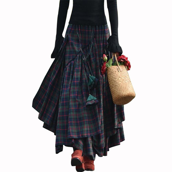 ladydre, long skirt, splicingdre, Women Skirts