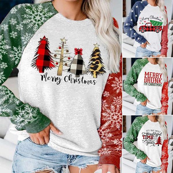 holidayshirt, Fashion, Women Blouse, Long Sleeve
