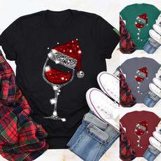Fashion, Glass, short sleeves, Print