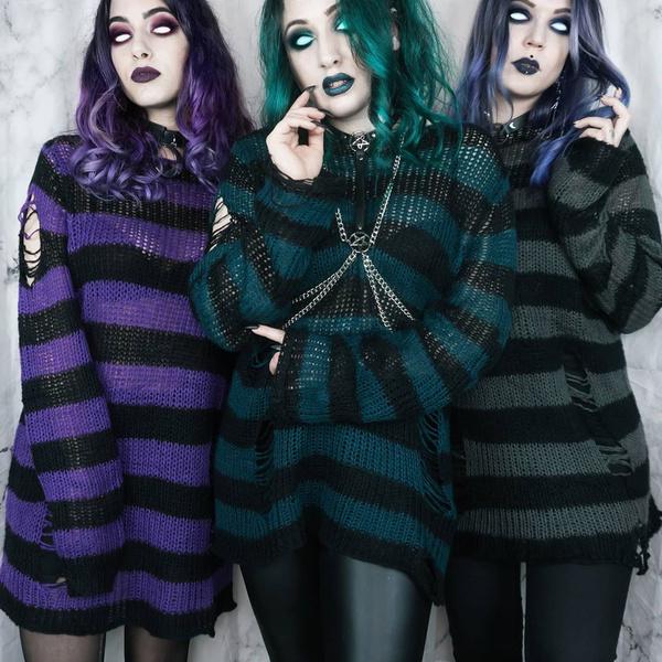 Goth, Plus Size, onecksweater, Sweaters