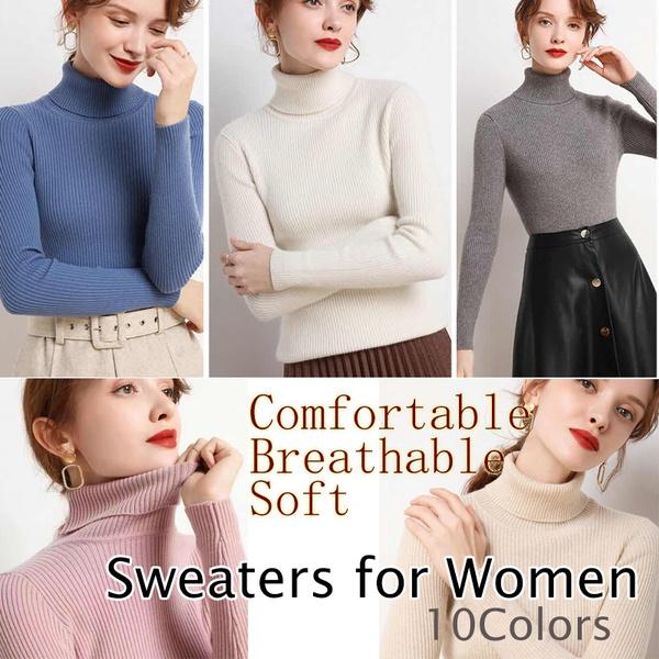 highnecktop, Women Sweater, Knitting, Winter