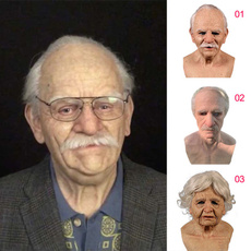 Funny, oldmanmask, siliconemask, Masks