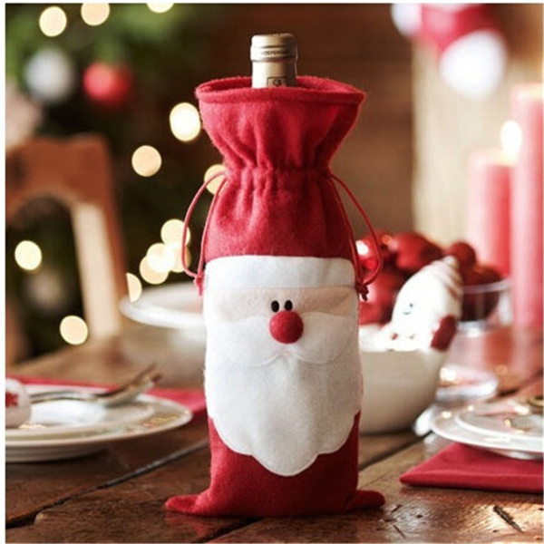 champagne, Christmas, Dress, winedecoration