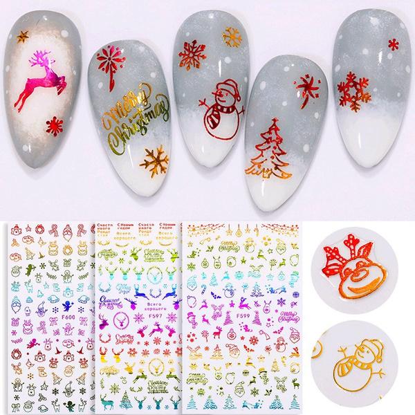 Nails, nail decals, art, transfersticker