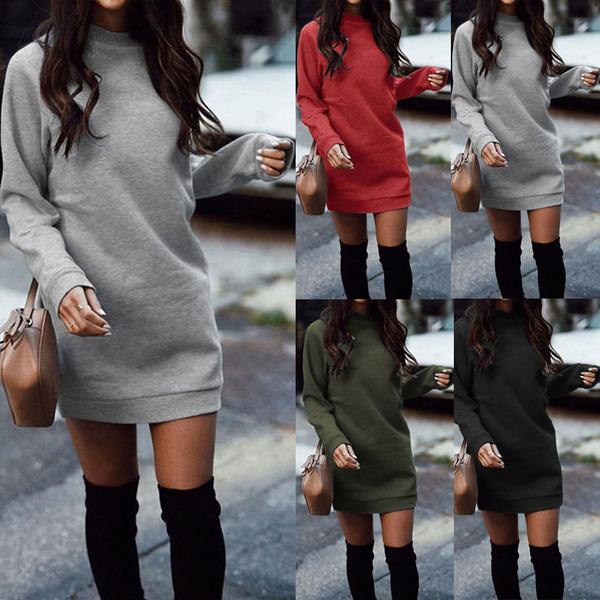 dressesforwomen, sweater dress, Winter, Sleeve