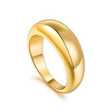 Couple Rings, goldplated, copperring, chicring