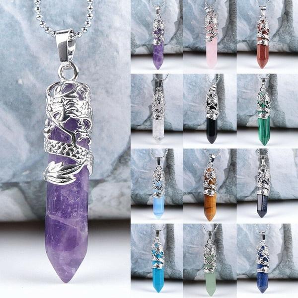 trendy necklace, energystonependant, healingchakrapendant, quartz