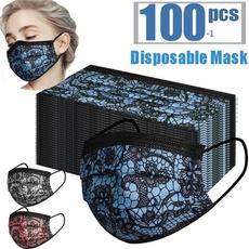 Lace, Breathable, Masks, disposable