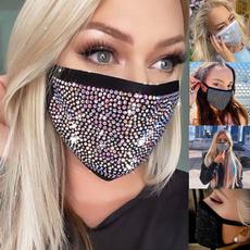 Bling, diamondfacemask, rhinestonefacemask, christmasmask