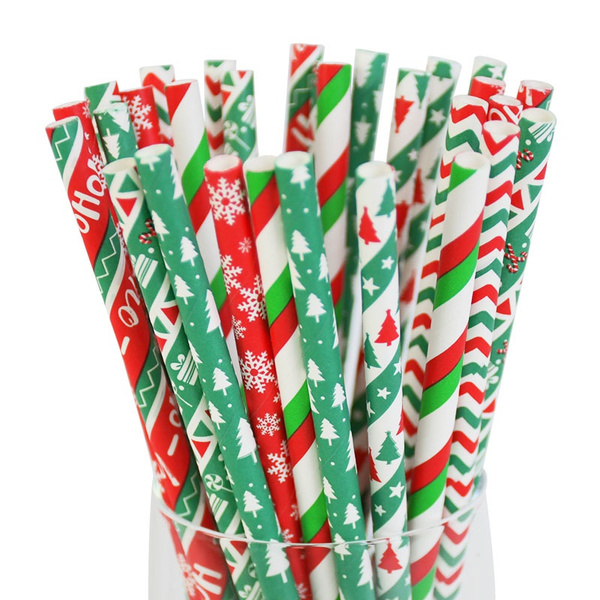 paperstraw, drinkingstraw, Christmas, christmasstraw